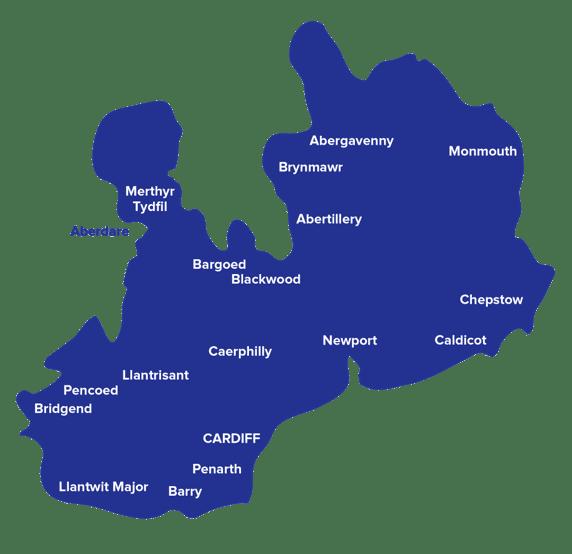 Capital south wales tsa map