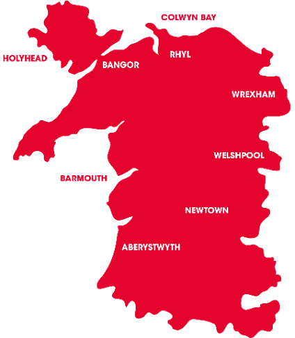 Heart North Wales Map