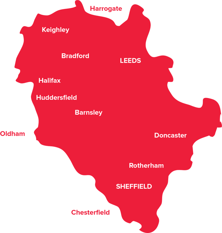Heart Yorkshire Map