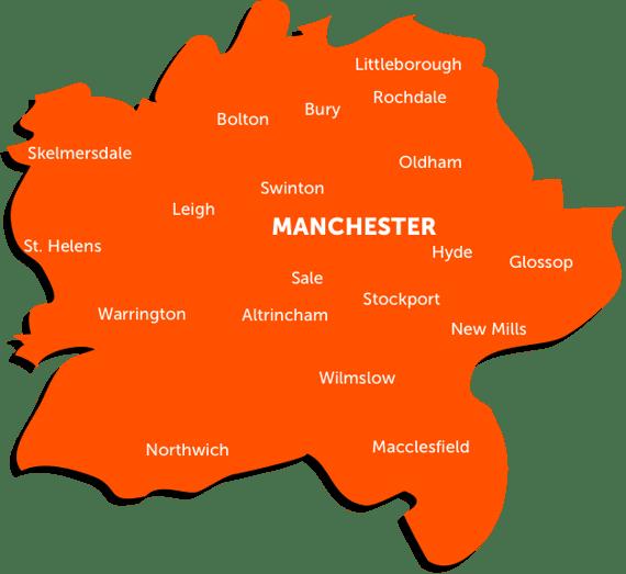 XS Manchester TSA Map