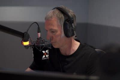 Clint Boon presenting in studio